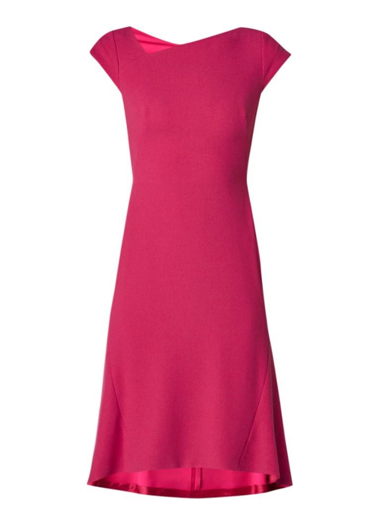 L.K.Bennett Ire A-lijn jurk met asymmetrische halslijn fuchsia