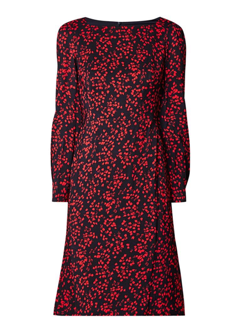 L.K.Bennett Alex midi-jurk met bloemendessin donkerblauw