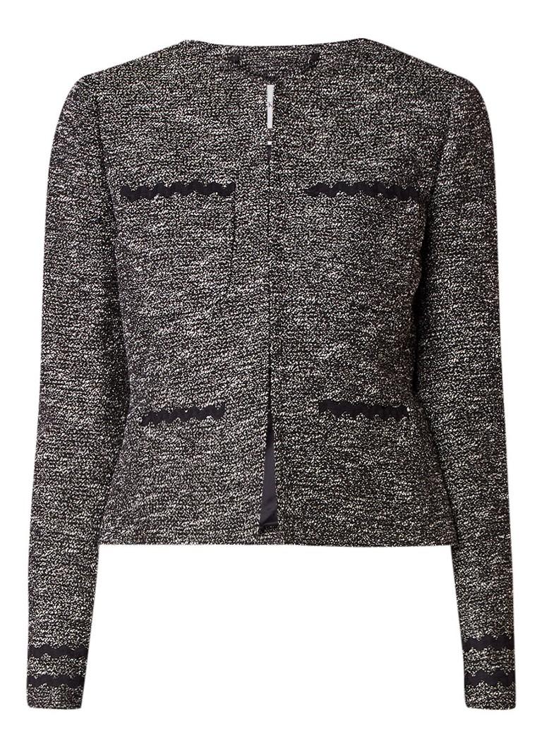 L K Bennett Rory blazer van tweed met zigzag detail
