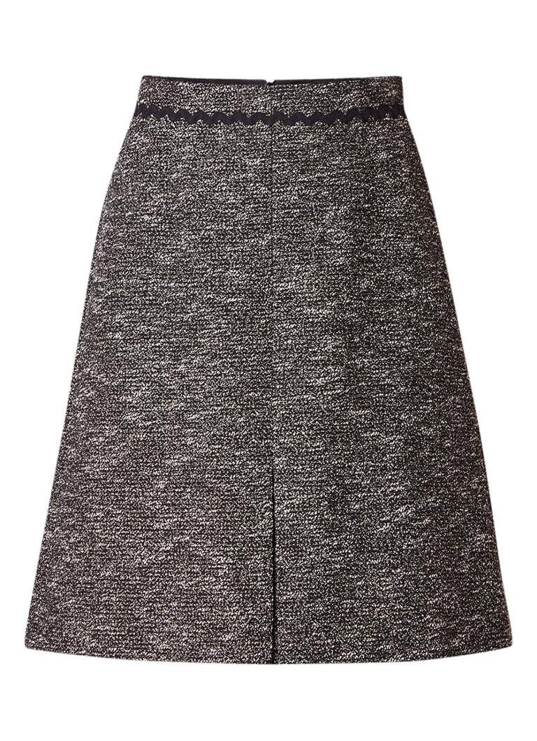 L K Bennett Rory A-lijn rok van tweed met zigzag-detail