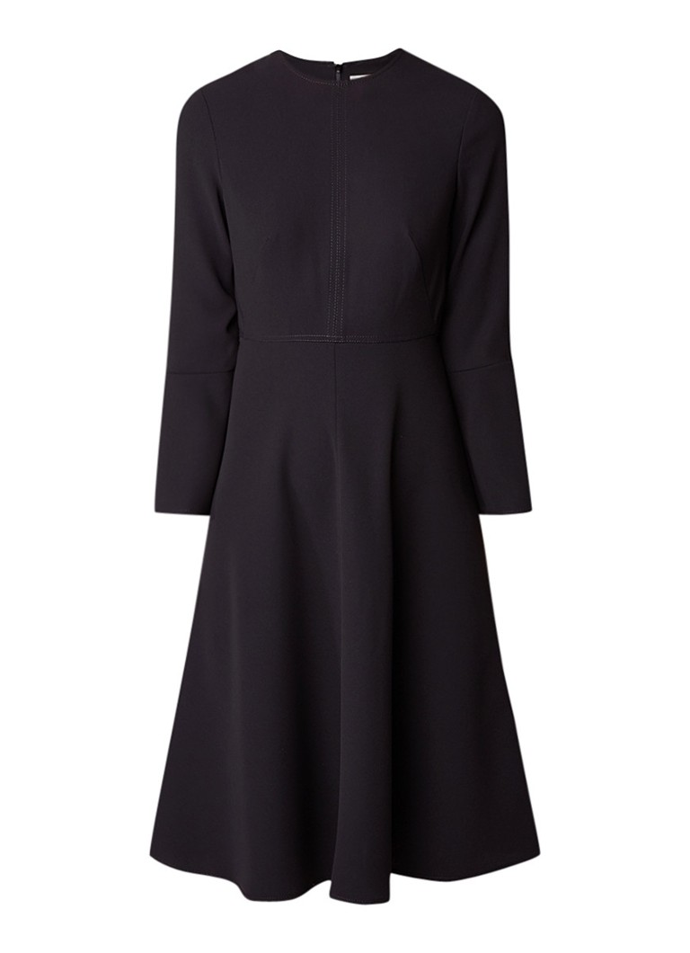 L.K.Bennett Caggie A-lijn jurk met trompetmouw zwart