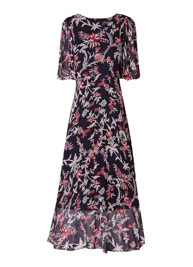 L.K.Bennett Delina maxi-jurk van zijde met kralendetails donkerblauw