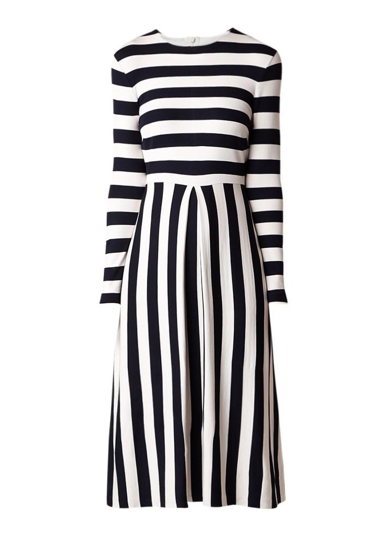 L.K.Bennett Maria maxi-jurk met streepdessin donkerblauw