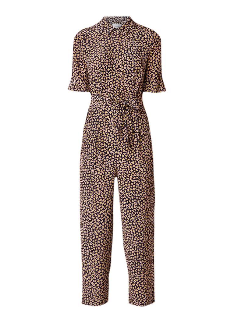 L K Bennett Crescida jumpsuit van zijde met bloemendessin