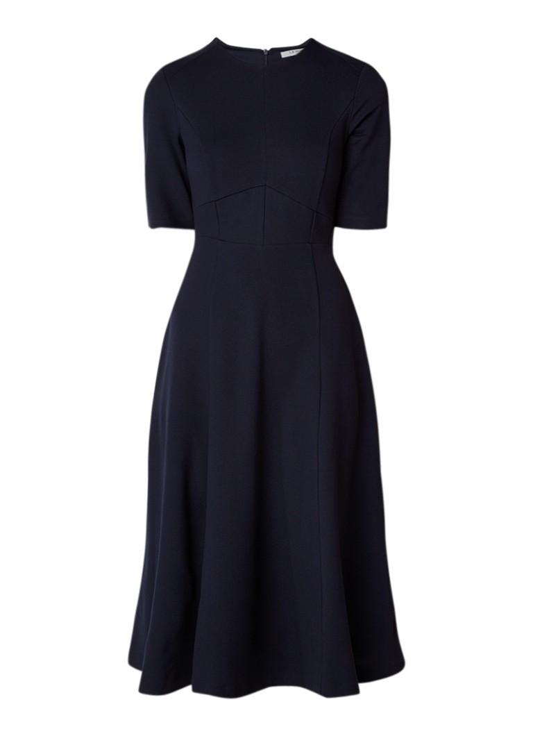 L.K.Bennett A-lijn jurk van jersey met halflange mouw donkerblauw