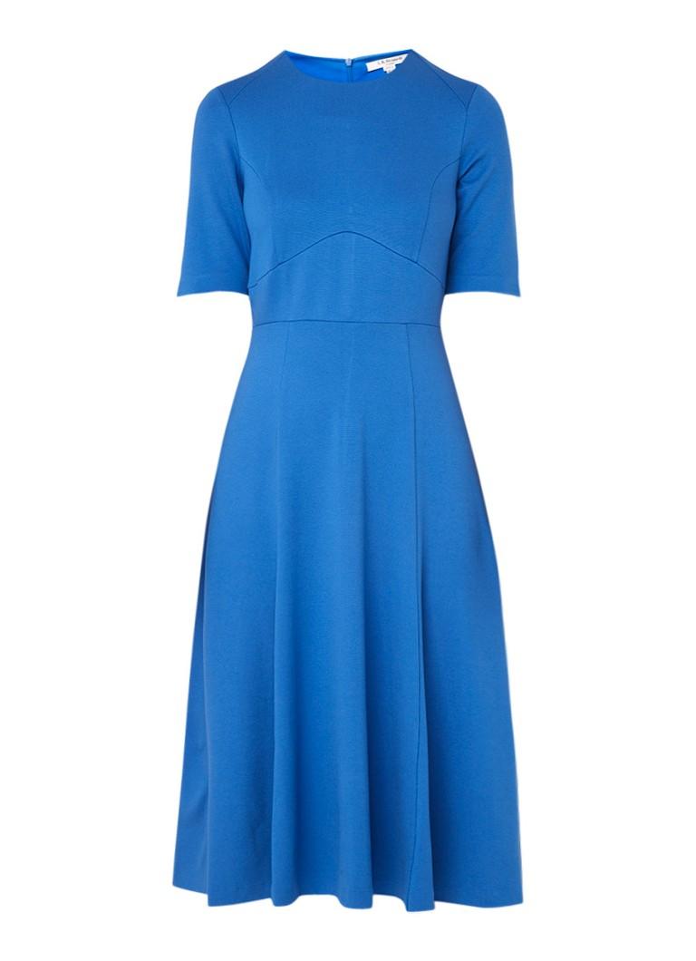 L.K.Bennett Beth A-lijn jurk van jersey middenblauw