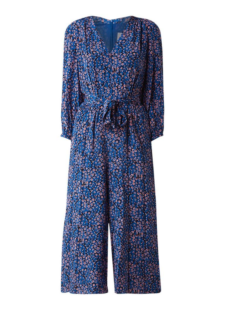 L K Bennett Ellora jumpsuit van zijde met strikceintuur