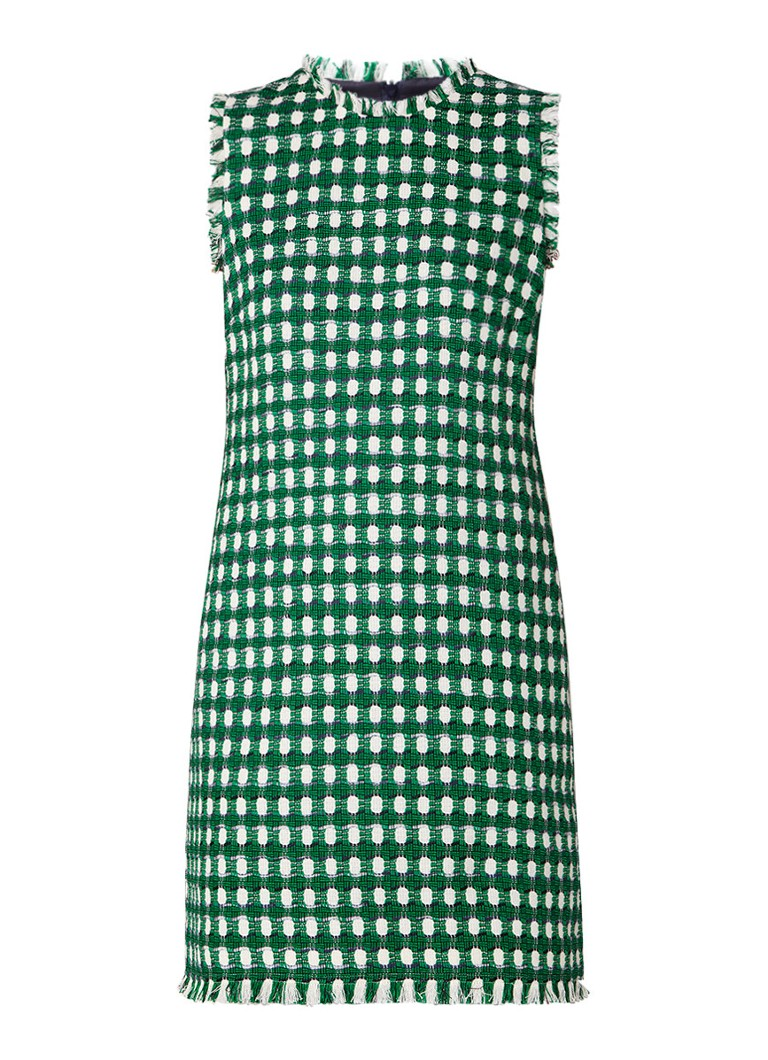 L.K.Bennett Tammy midi-jurk van tweed groen