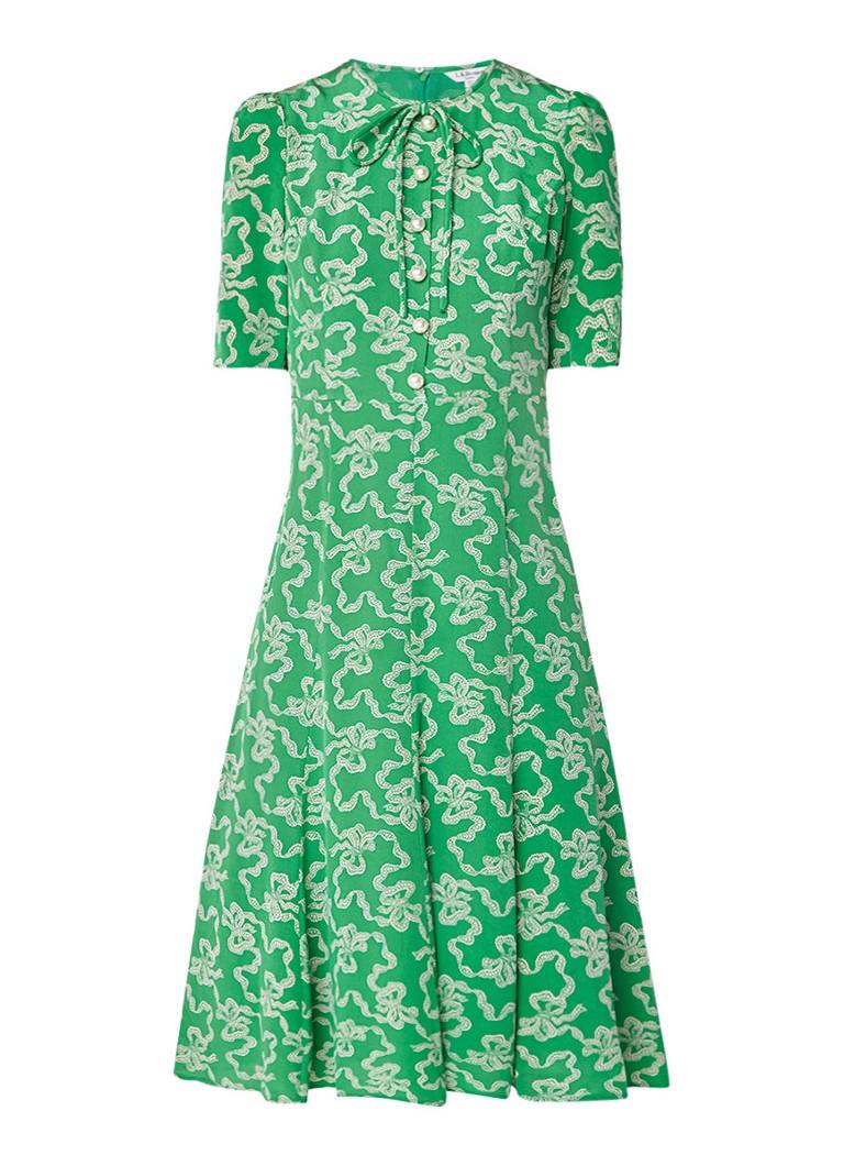 L.K.Bennett Montana A-lijn jurk met imitatieparels groen