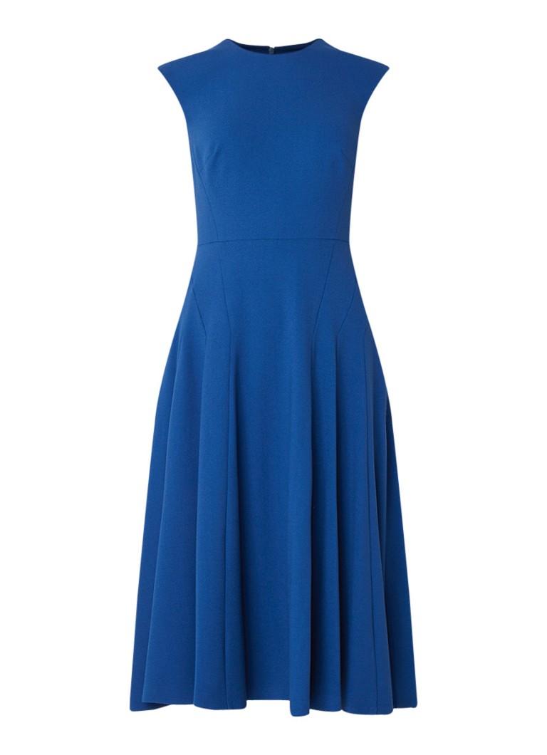 L.K.Bennett DR Aylin A-lijn midi-jurk royalblauw