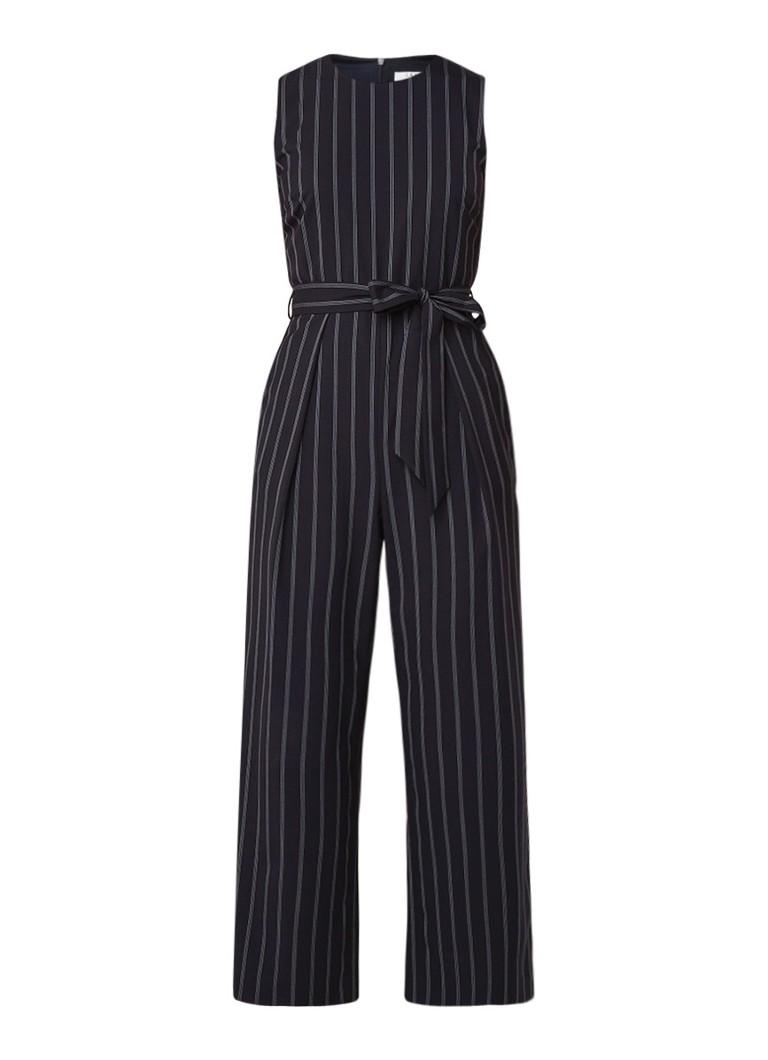L K Bennett Elani mouwloze jumpsuit met ceintuur en streepdessin