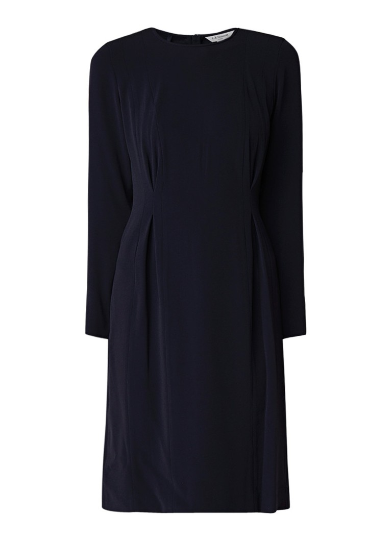 L.K.Bennett Jessica midi-jurk met geplooid detail donkerblauw