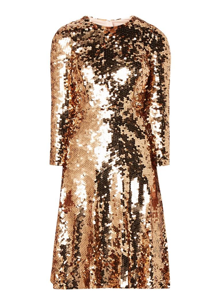 L.K.Bennett Laz A_lijn jurk van pailletten goud