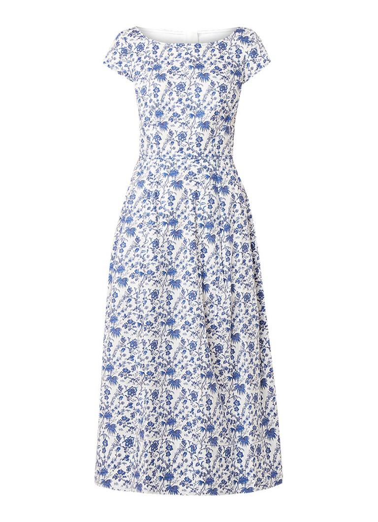 L.K.Bennett Glendatea A-lijn jurk met bloemendessin wit