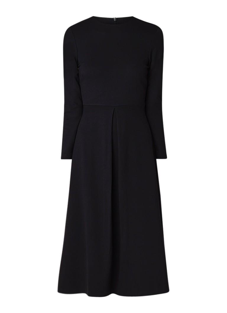 L.K.Bennett Maria tuniekjurk van jersey met plooidetail zwart