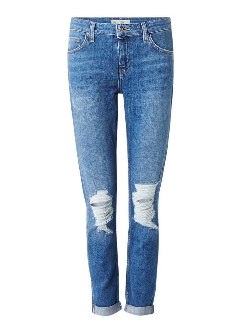TOPSHOP Lucas boyfriend jeans met destroyed details