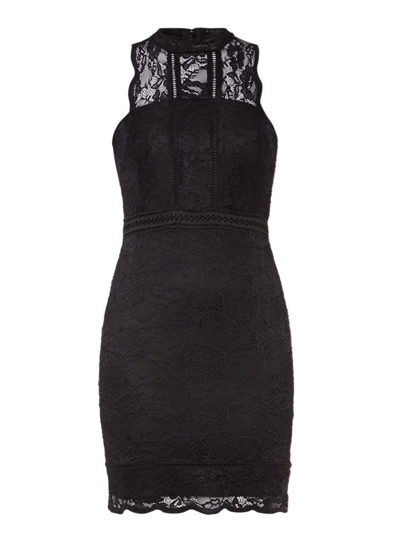 TOPSHOP Mouwloze jurk van kant met geschulpte afwerking
