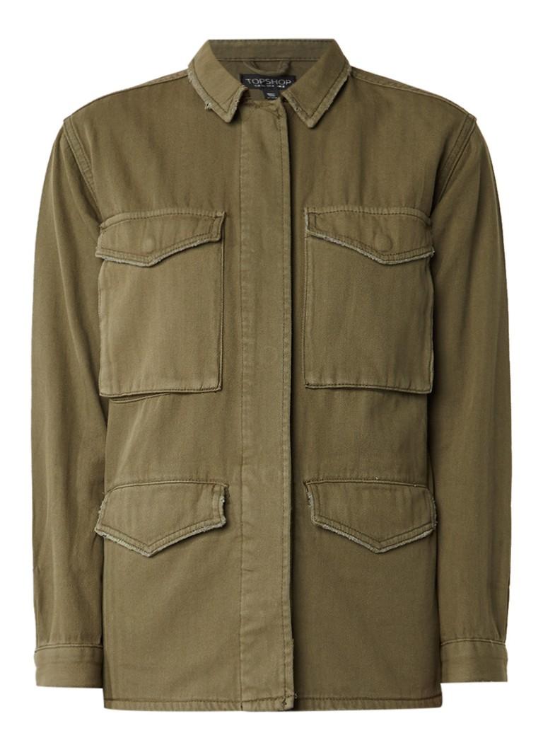 TOPSHOP Ethan field jacket van katoen