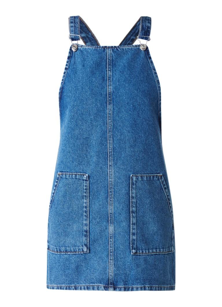 TOPSHOP Overgooier spijkerjurk met opgestikte zakken