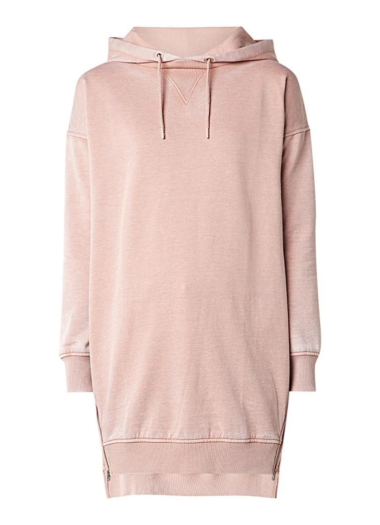 Topshop Sweaterjurk met rits aan weerszijden lichtroze