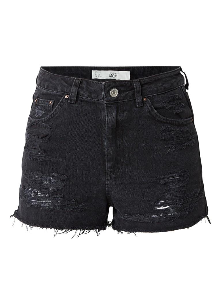 TOPSHOP High waist shorts van ripped denim