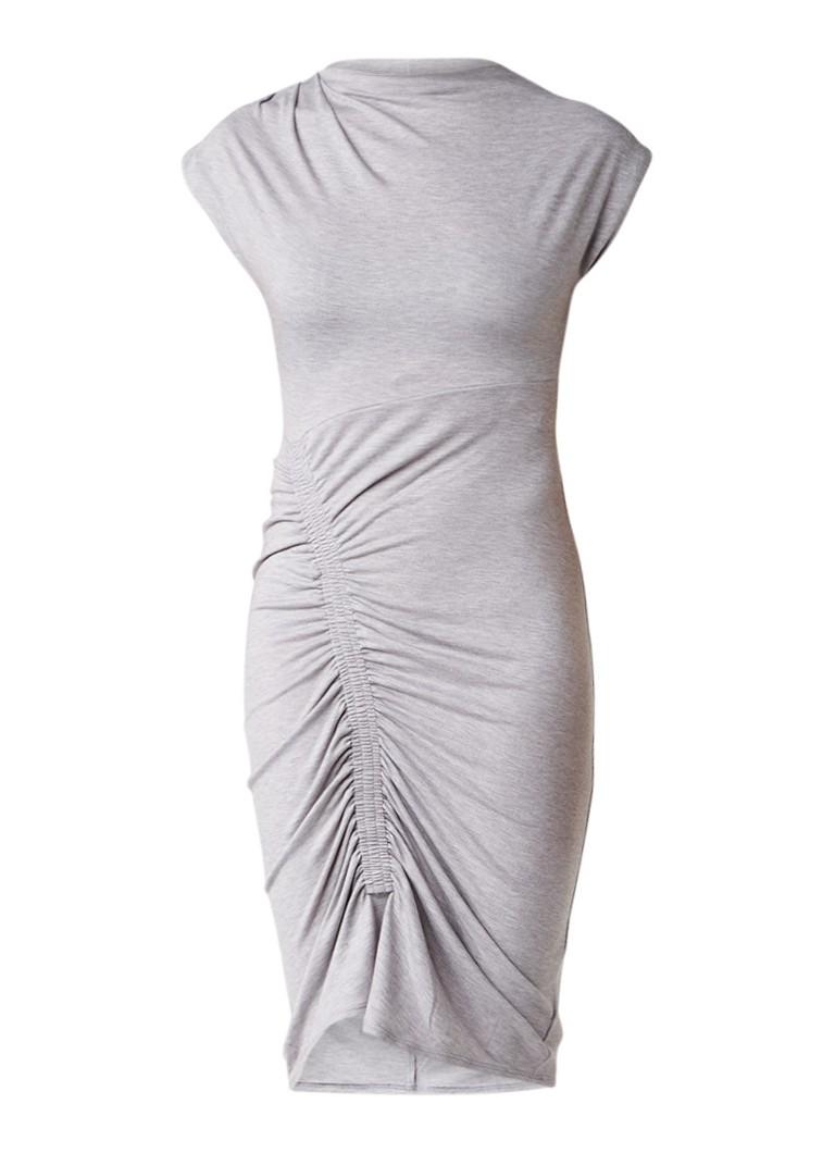 Topshop Bodycon midi-jurk met plooidetails grijsmele