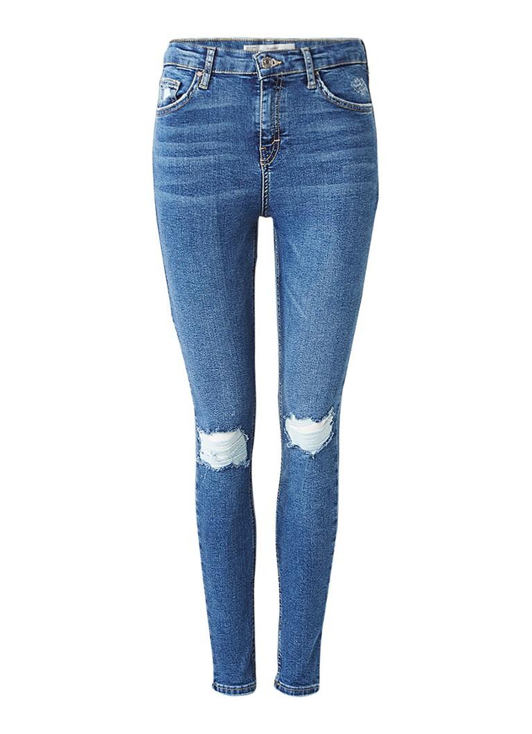 TOPSHOP Jamie high rise skinny jeans met destroyed details