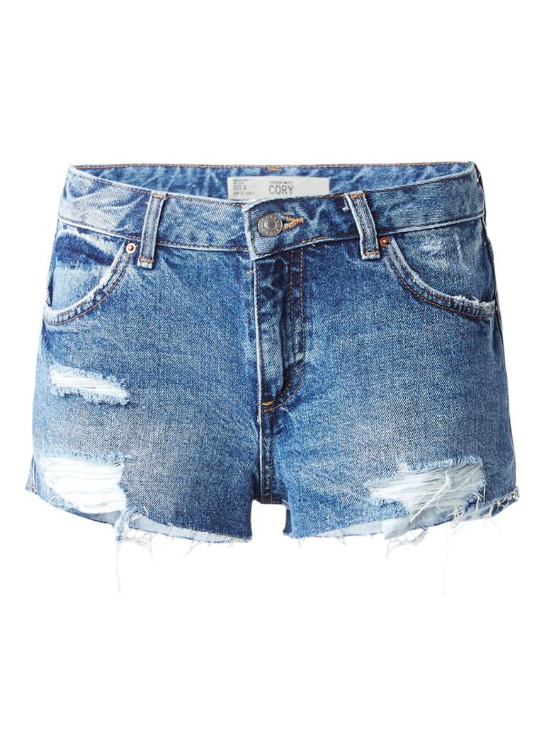 TOPSHOP Denim shorts met destroyed details