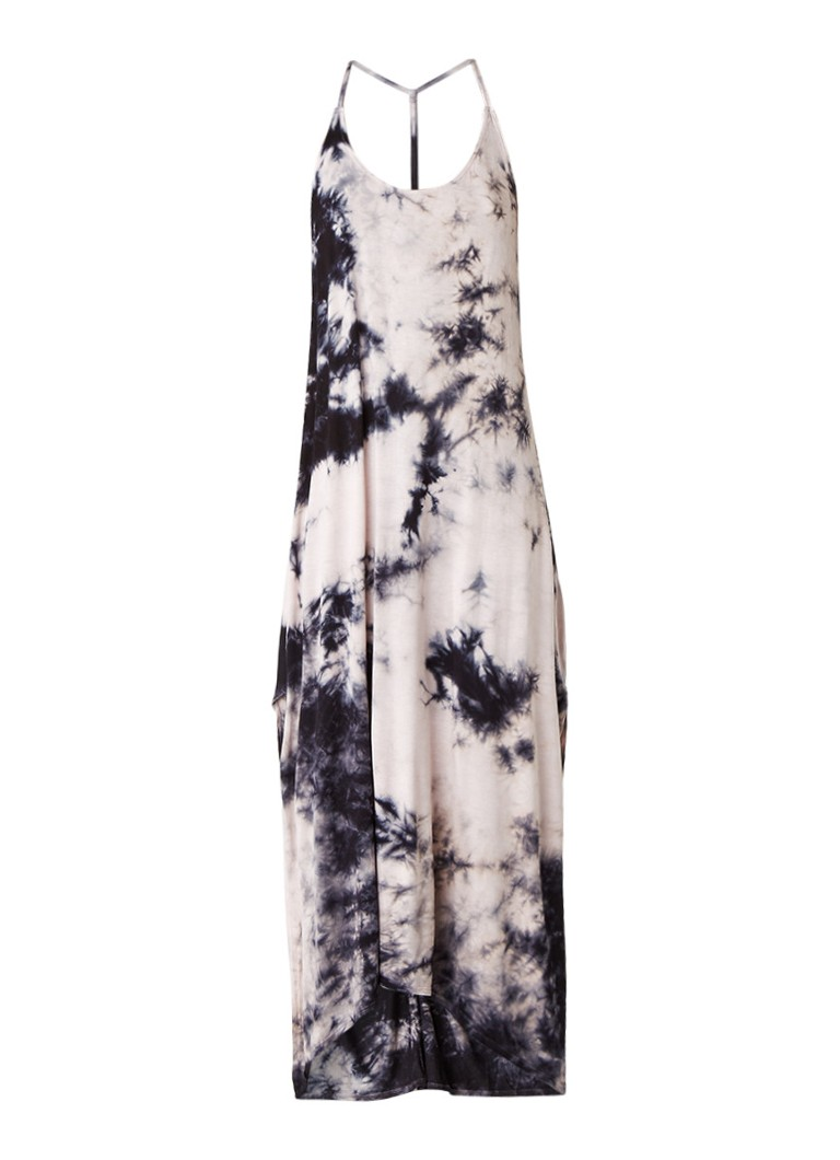 Topshop Maxi-jurk met tie dye-dessin donkerblauw
