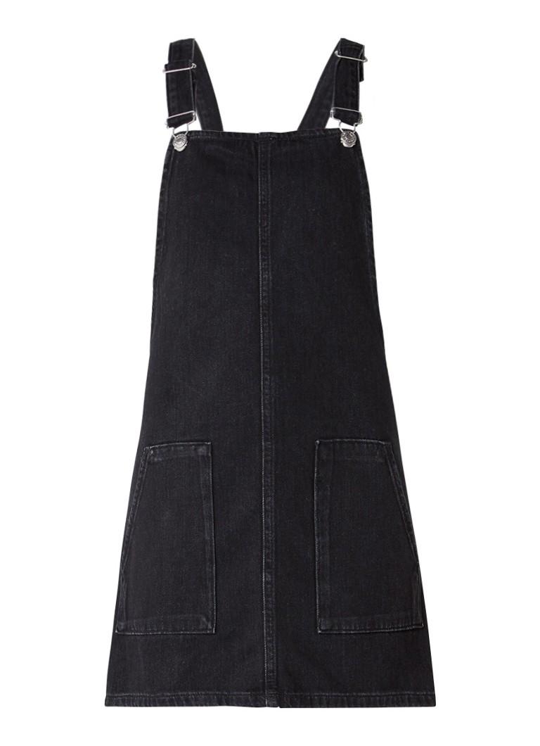 Topshop Spijkerjurk met opgestikte zakken zwart