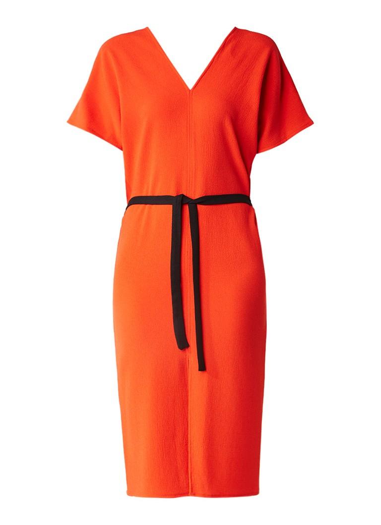 Topshop Kimono jurk met strikceintuur oranje