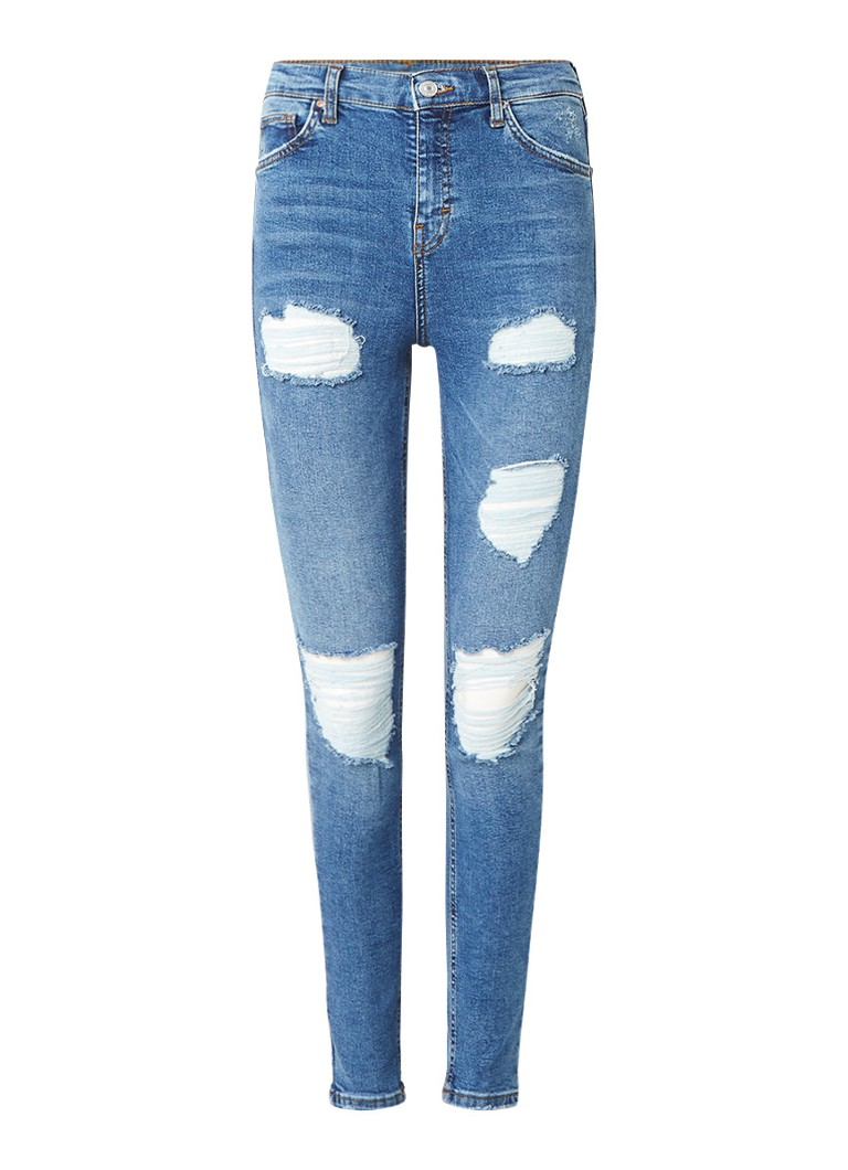 TOPSHOP Jamie high rise skinny destroyed jeans