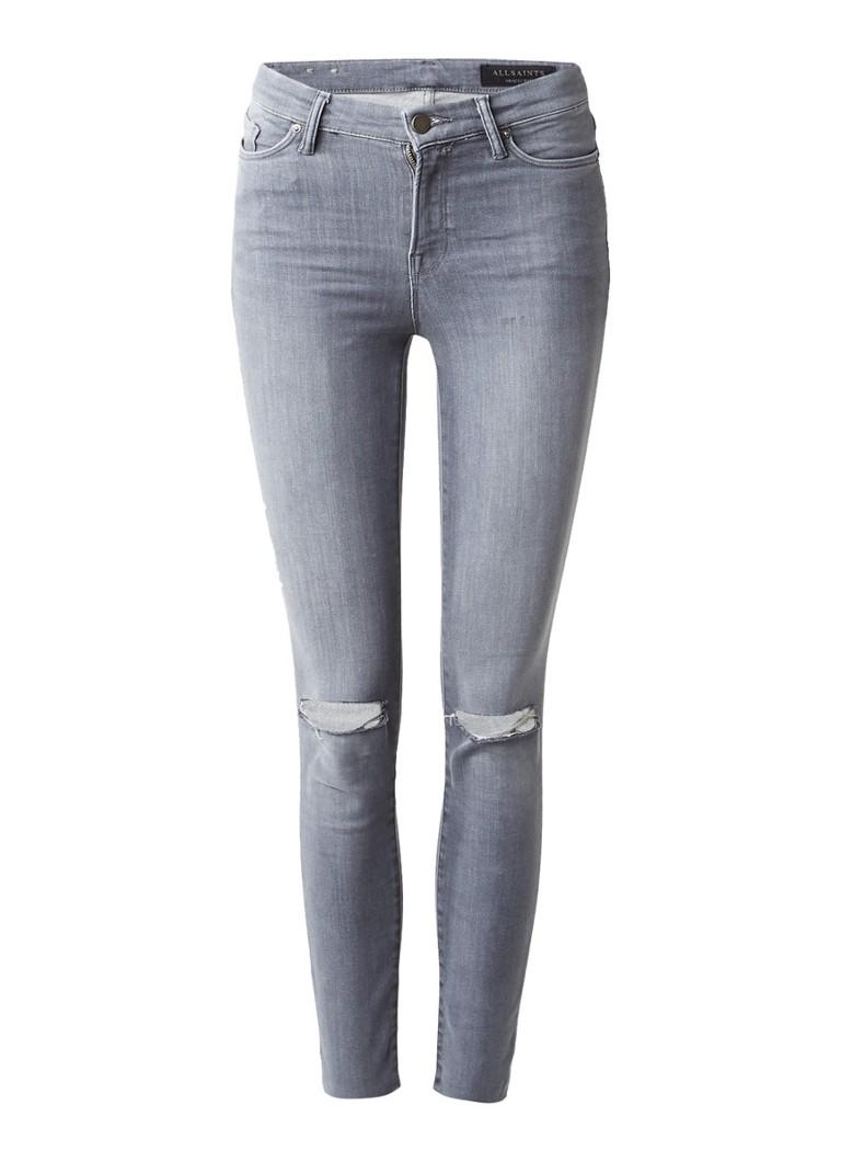 ALLSAINTS Grace mid rise 7 8 skinny jeans met destroyed details