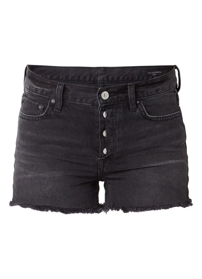 ALLSAINTS Button Boy denim shorts met gerafelde zoom