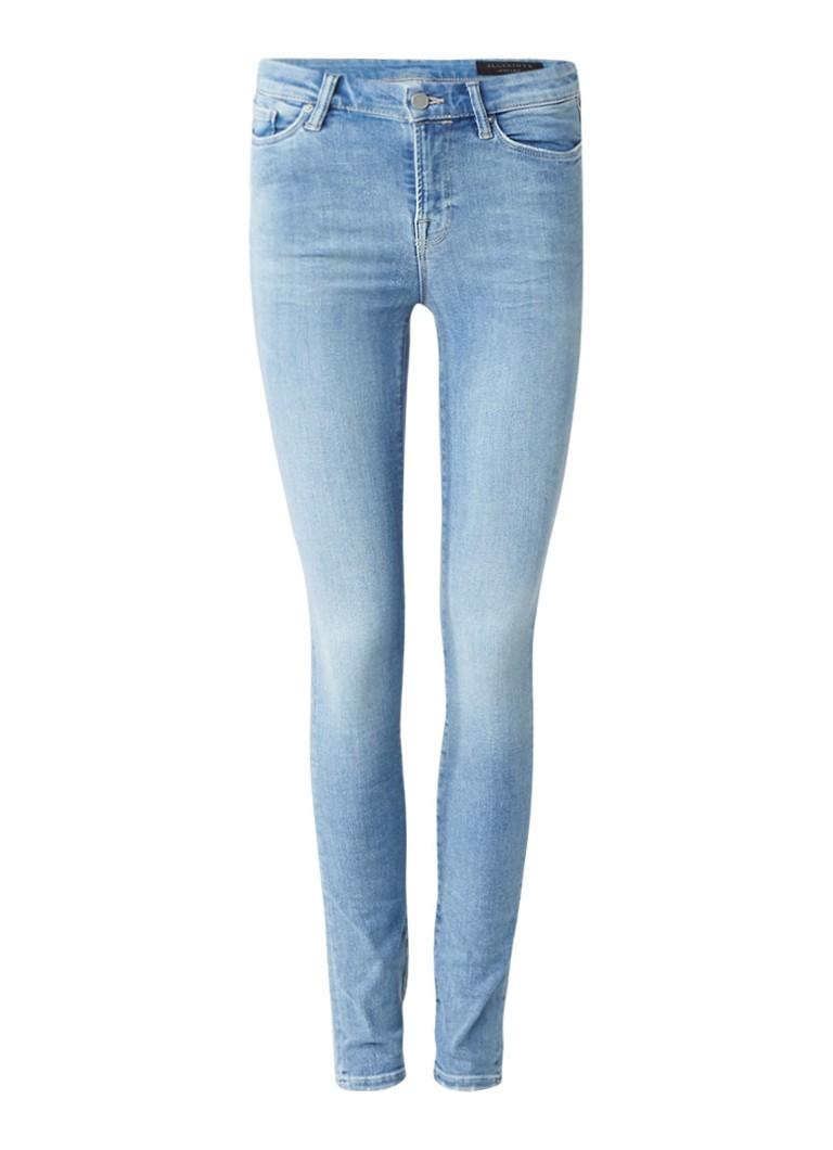 ALLSAINTS Grace high rise skinny jeans met faded look