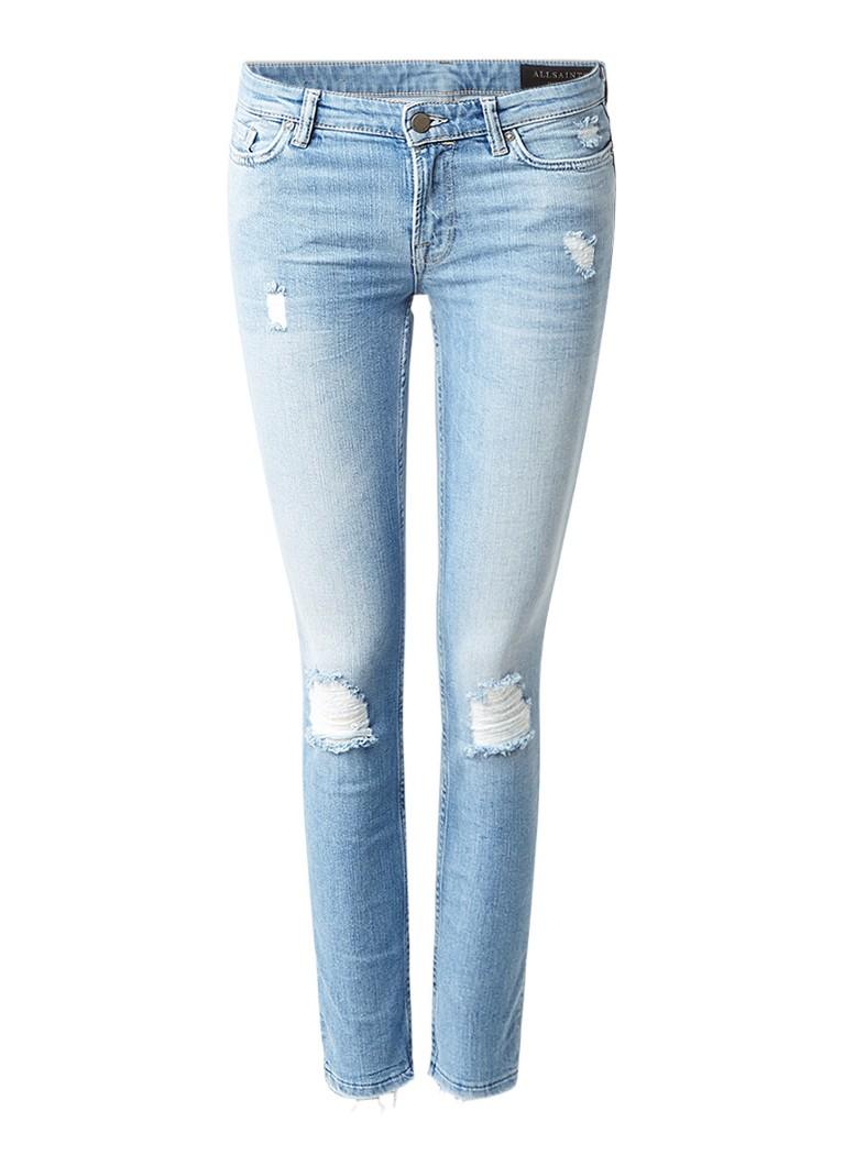 AllSaints Mast cropped skinny jeans met destroyed details