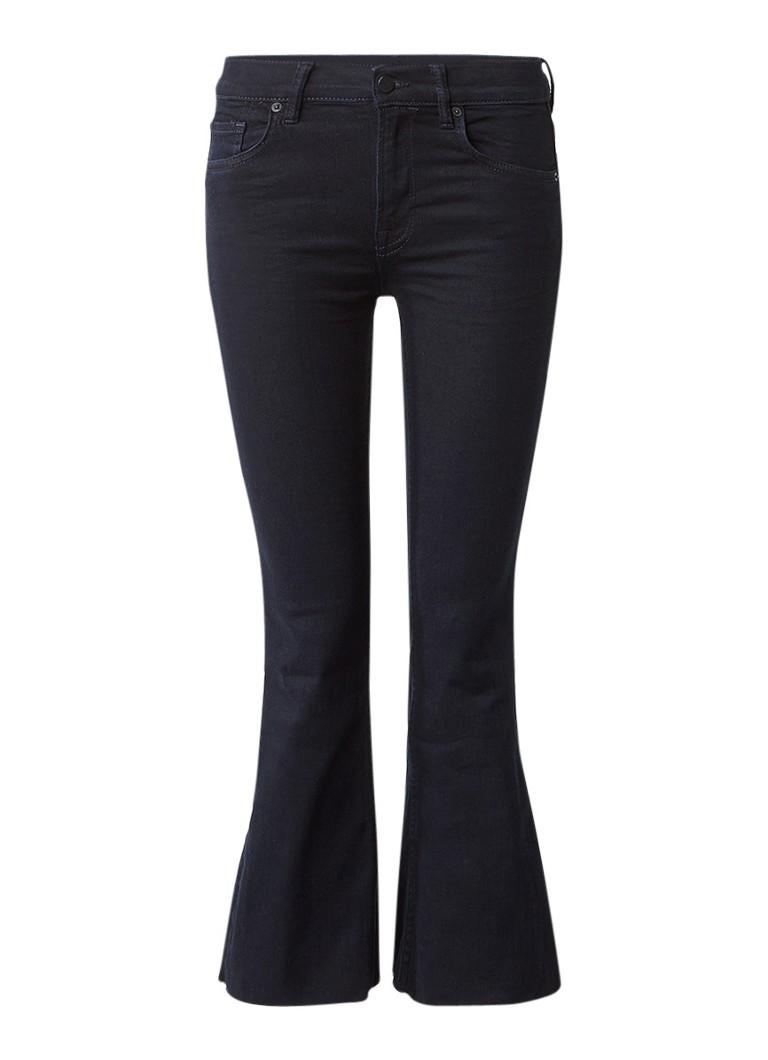 AllSaints Heidi high rise kick flare jeans met donkere wassing