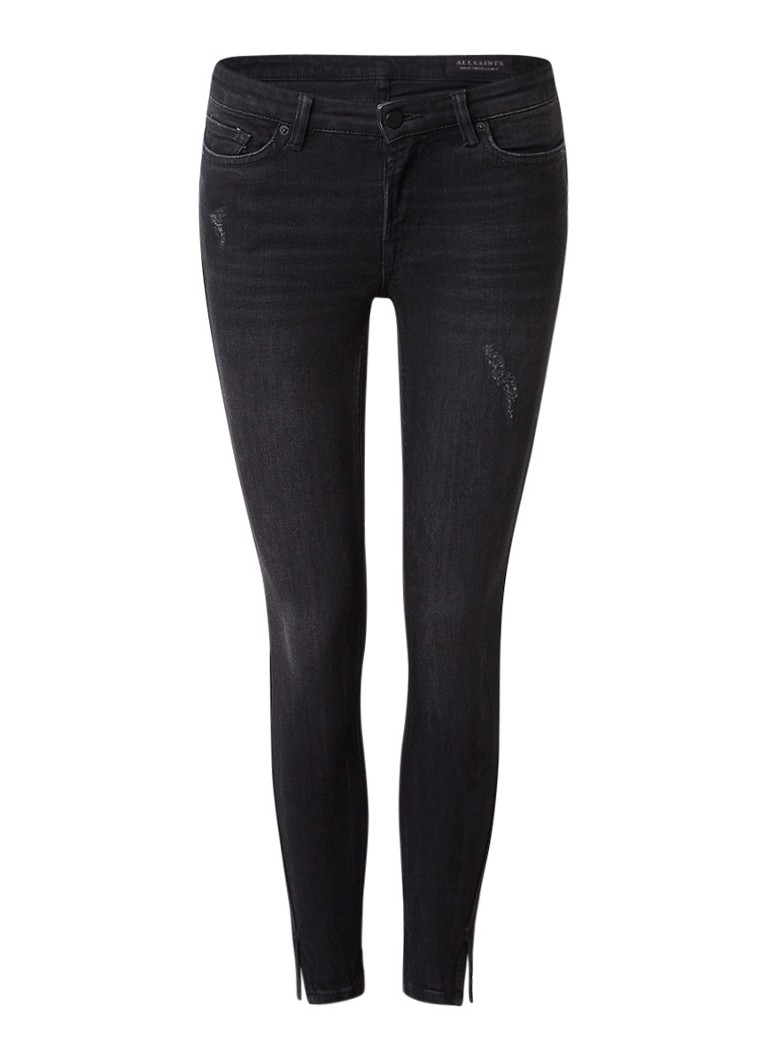 ALLSAINTS Mast Twisted low rise skinny fit jeans met destroyed details