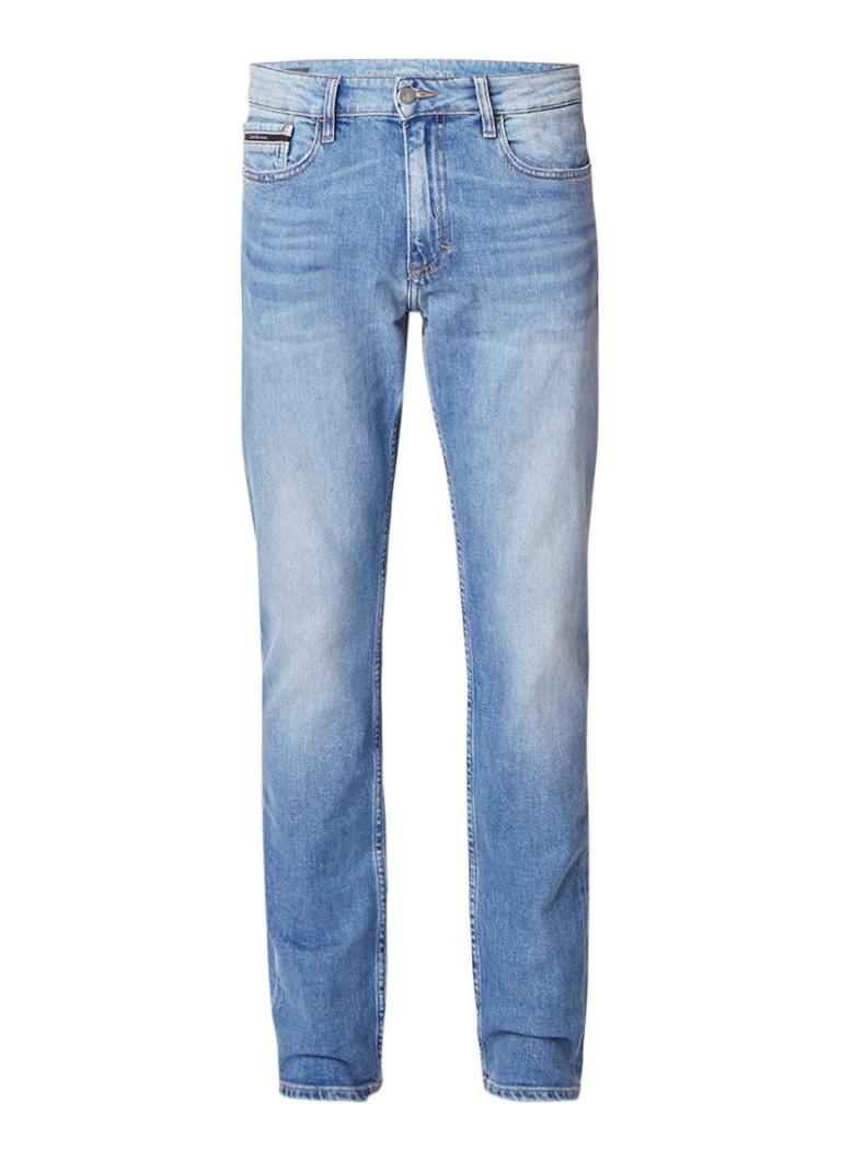 Calvin Klein Slim straight fit jeans met faded look