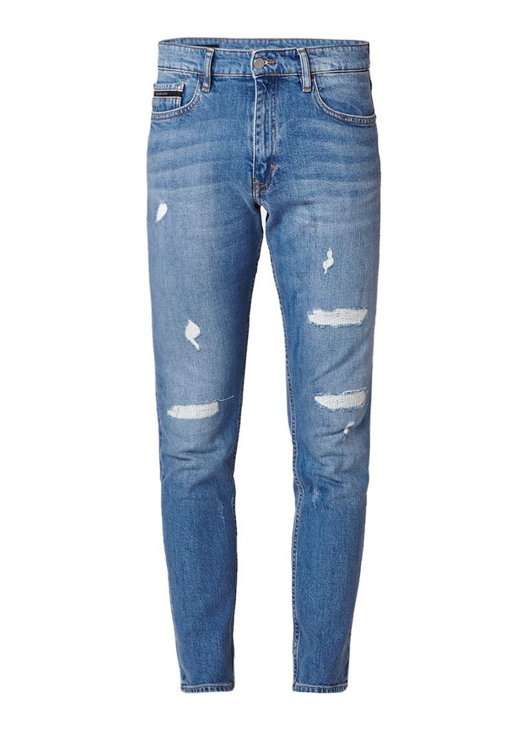 Calvin Klein Mid rise skinny fit jeans met destroyed detail