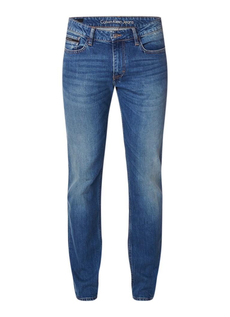 Calvin Klein Slim straight fit jeans met medium wassing