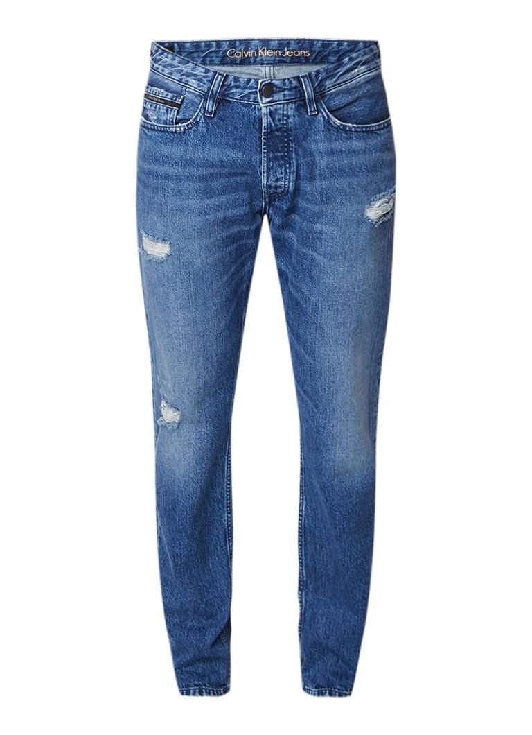Calvin Klein Straight tapered fit jeans met vintage look