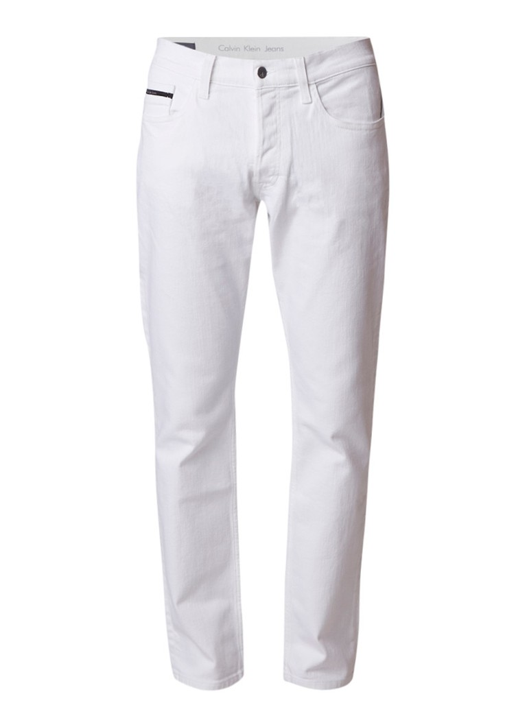 Calvin Klein Mid rise straight fit jeans met stretch