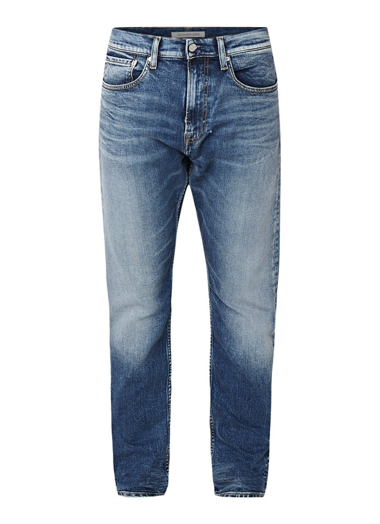 Calvin Klein CKJ 057 tapered fit jeans met verwassen look
