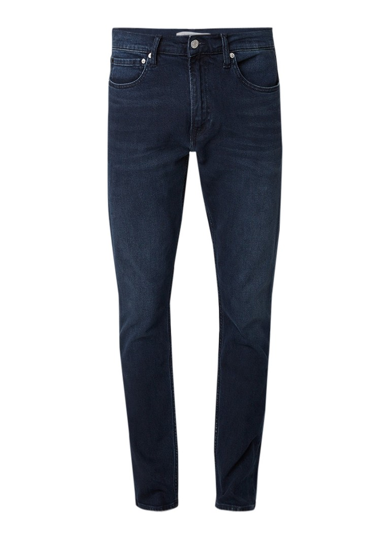 Calvin Klein Paris mid rise slim fit jeans in donkere wassing