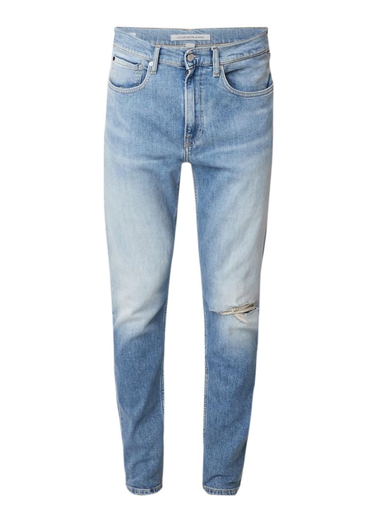 Calvin Klein High rise skinny fit jeans met destroyed look