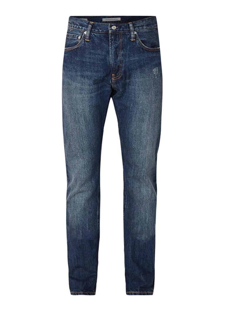 Calvin Klein CKJ 026 slim fit jeans met verwassen look
