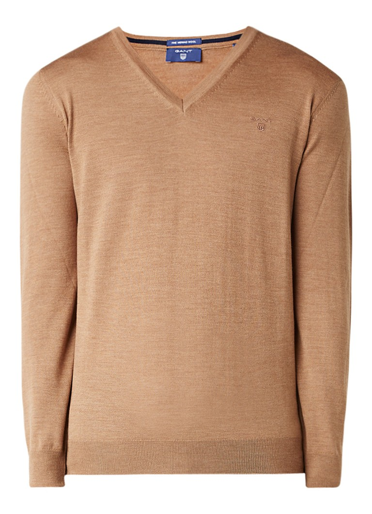 Gant Fijngebreide pullover van merinowol