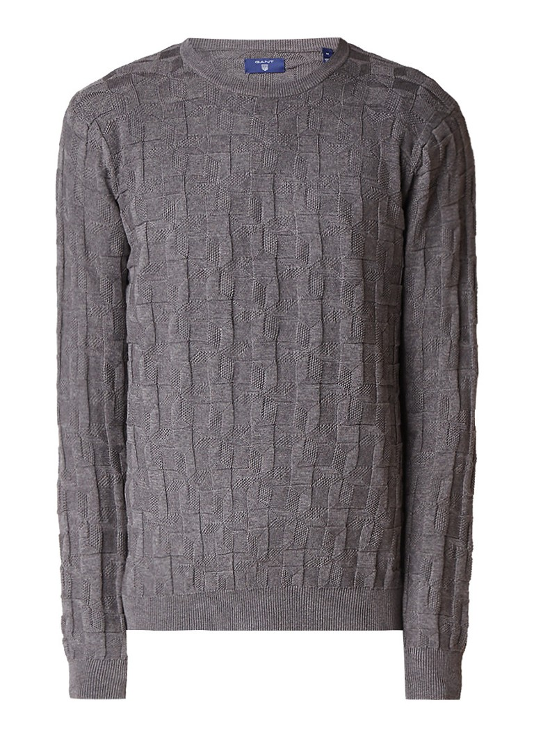 Gant Pullover van katoen met grafisch structuur