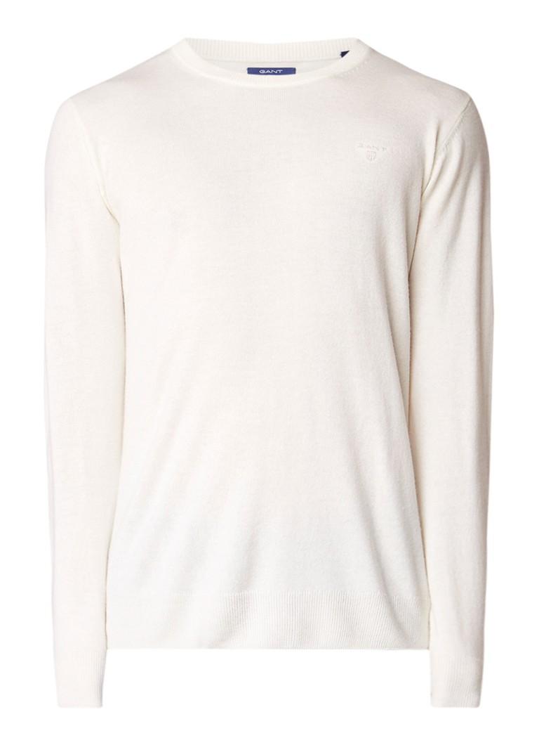 Gant Pullover in kasjmierblend met ronde hals
